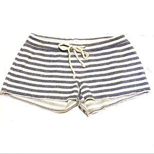 Victoria's Secret Stripe Terry Cloth Shorts XS